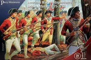 American War of Independence British Infantry 1775 Perry 28mm 38 figures 701