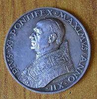 Medaille Vatikan Papst Pius Xi 1933 1934 Jahr XII IN Silber Subalpina