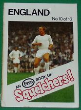 1970 FOOTBALL ESSO BOOK OF SQUELCHERS ! N°10 ENGLAND