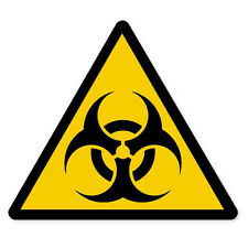 "Biohazard Danger Warning sign sticker decal 4"" x 4"""