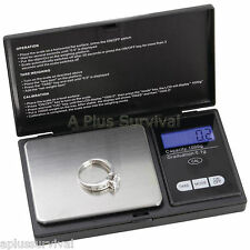 Pocket Scale for Gold Silver Jewelry Grams Ounces Grains Carats - Survival Kits