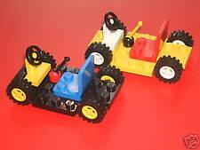 LEGO Set di 2 Auto/gocarts + ruote, sedile, volante & gear stick