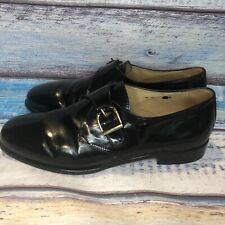 Olivier Black Monk Strap Made In Italy Leather Shoes US Men's Size 10 M