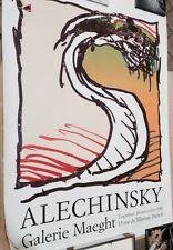 ALECHINSKY Pierre Affiche 160 x 120 cm abstraction cobra art abstrait Belgique