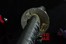 battle ready clay tempered Folded steel japanese zen katana razor sharp sword