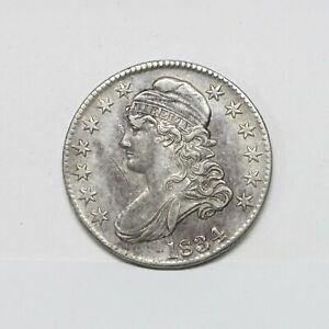 1834 50C Capped Bust Silver Half Dollar