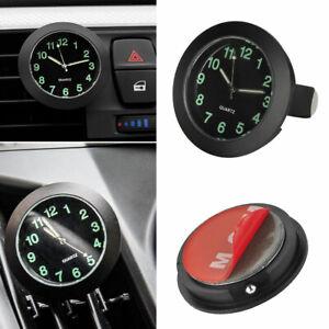 Auto Dashboard Quartz Analog Watch Gauge Clock Luminous Car Sticky Interior