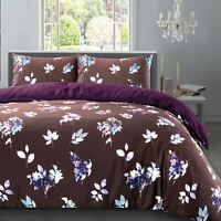 Shadow Floral Soft 230 Thread 100%Cotton Sateen Non-Iron Quilt Duvet Cover Set