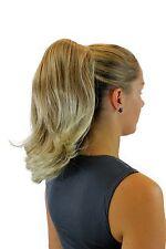 POSTICHE / TRESSE LISSE 35 cm épingle à cheveux-papillon blonde Mélange