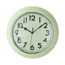 Premier Housewares Wall Clock, Cream Plastic Black Numbers & Dials