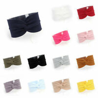 Solid Color Kid Baby Turban Twist Headband Cross Knotted Soft Elastic Hair Band