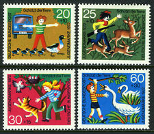 Germany B481-B484, MNH.Animal Protection.Ducks;Deer,rabbits;Birds,cat;Swans,1972