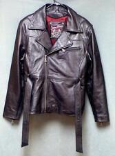 Flying Bikes Leather Fringe Motorcycle Jacket New York Chapter Women's Size XLG