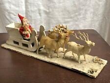 Antique Santa Sleigh and Reindeer