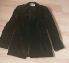 Veste AGATHA GIRLS PARIS, Made in FRANCE, velours doux noir côtelé, femme T.42