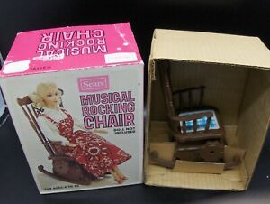 Vintage Sears Exclusive Barbie Musical Rocking Chair MIB NOS w/Insert Mint