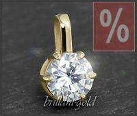 Diamant Brillant 585 Gold Anhänger 1,39 ct; Top Wesselton & Si2, Damenanhänger