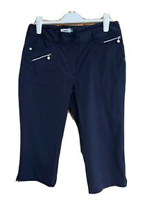 Ladies 'Daily Sports' Capri Length Golf Trousers Navy 14