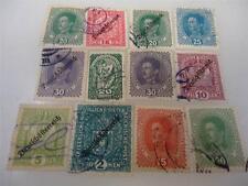 Lot of 12 Vintage 1917-1919 Austrian Stamps