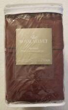 "ROYAL VELVET BEDSKIRT Color BURGANDY QUEEN (60""x80"") JC-PENNEY"
