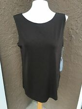 New Chico's Travelers Light Chocolate Chip Reversible Tank Top Sz 3 XL 16/18 NWT