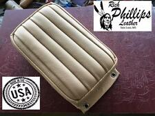 Pillion Passenger Pad Tuck & Roll Cream Bates Style Motorcycle Rich Phillips