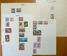 JORDAN: 26 Stamps on Vintage Album Pages. See All Photos.