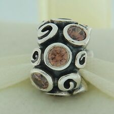 Authentic Pandora 790330BCZ Primrose Path Brown CZ Sterling Silver Bead Charm