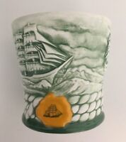 Cutty Sark Scotch Whiskey Clipper Ship Signature Creations Green Shaving Cup