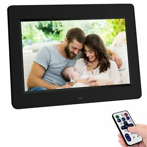 Remote control 10.1'' Digital Photo Frame Clock Auto Slide Show MP4 Player Black