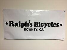 old school bmx ralphs bicycles  BANNER 4ft X 2ft vdc hutch gt se racing