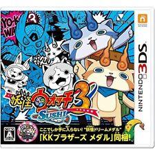 Used 3DS Yo-Kai Watch 3 Sushi ver. Japan Import