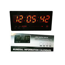 Watch Digital Wall Big Date Screen LED Hour Temperature Office 218