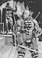 DC Comics BATMAN vs DEATHSTROKE the TERMINATOR Original Art JUSTICE TEEN TITANS
