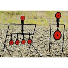 Steel Auto Reset & Spinner Shooting Targets Combo .22LR, 7 Target Gun Gallery