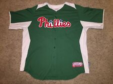 Cliff Lee Philadelphia Phillies Majestic Authentic Sewn Green Jersey - Men's 2XL