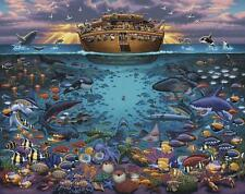 DOWDLE FOLK ART COLLECTORS JIGSAW PUZZLE NOAH'S ARK UNDER THE SEA 1000 PC #10304