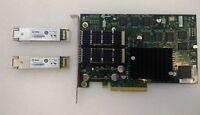 Chelsio Dual Port 10 GbE PCIe x8 NIC PN 110-1040-20 e0 + 2x XFP 10gbASE-SR