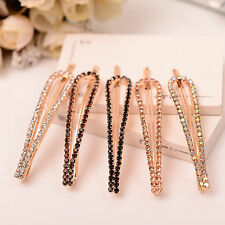 Lady Fashion Korean Crystal Rhinestone Barrette Hairpin Hair Clip Accessories