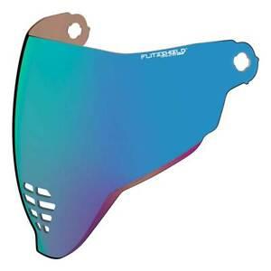 Icon FliteMotorcycle Motorbike Shield RST Blue For Airflite Helmets