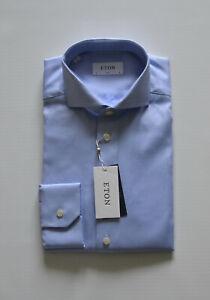 NEW ETON SLIM Signature Twill Men's Shirt Herren Hemd Gr.41 16 formal