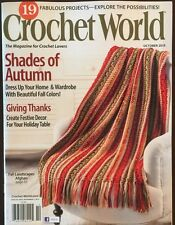 Crochet World Shades Of Autumn Giving Thanks Oct 2015 FREE SHIPPING