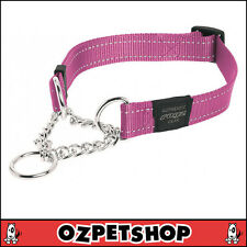 Rogz Fanbelt Obedience Collar Pink Reflective Large