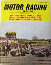MOTOR RACING Magazine Mar 1968 - Formula 1, Mazda 110S, Huschke Von Hanstein