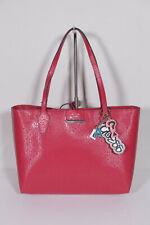Guess Nwt $ 108 Papavero Rosa Multi Borsa a Mano Augustina Piccolo Magnetico | eBay