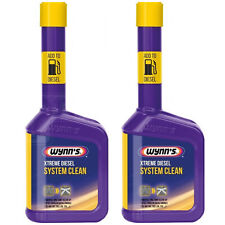 2 x Wynns Extreme Powerful Diesel Fuel System EGR Valve DPF Cleaner Additive 325