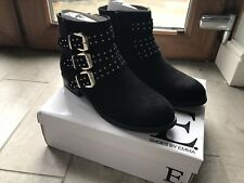 BN Boxed Ladies Black Ankle Boots Size 7 £39 New