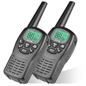 2x 8CH Handheld Walkie Talkies 9000M Long Range 2 Way Radio Intercom Interphone