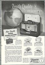 1952 ZENITH TRANS-OCEANIC Radio advertisement, Super Trans-Oceanic shortwave