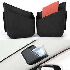 2x Black Car Truck Cigarette Glasses Storage Box Organizer Bag Cellphone Holder
